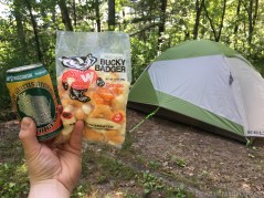 Mirror Lake State Park - Snack time with cheese curds and Spotted Cow