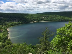 Devils Lake State Park - View of the lake from atop the bluff on Balanced Rock Trail