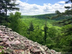 Devils Lake State Park - View from atop the bluff on East Bluff Trail