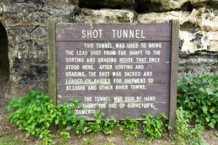 Tower Hill State Park - Shot Tunnel Sign