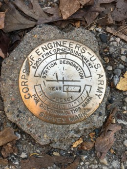 Wildcat Mountain State Park - Survey marker at Observation Point