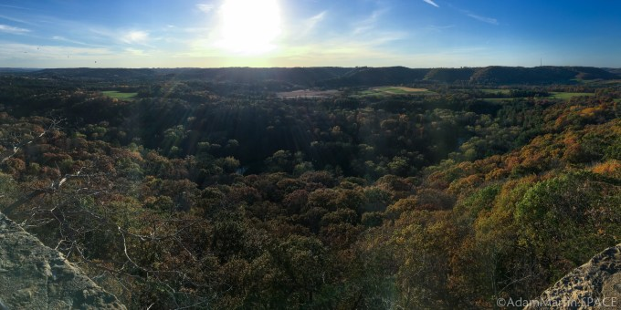 Wildcat Mountain State Park - Observation Point looking over the Kickapoo River valley