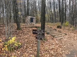 Timms Hill - Start of trail to peak
