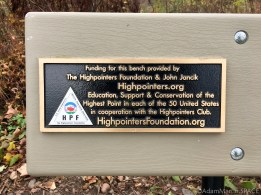 Timms Hill - Highpointing placard