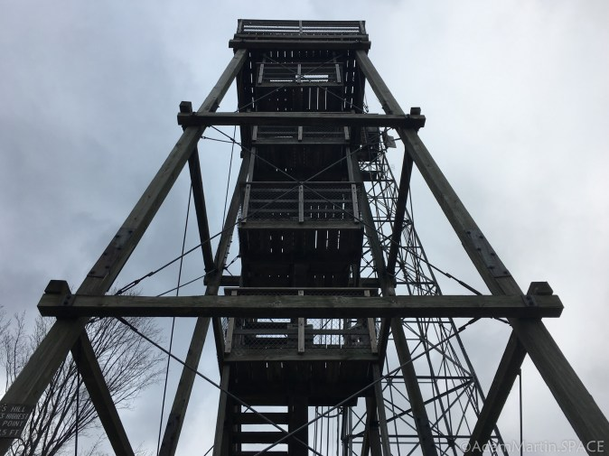 Timms Hill - View of tower from below