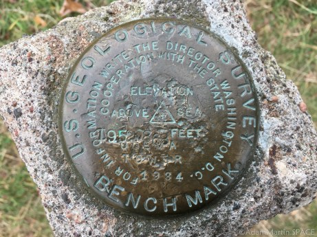 Timms Hill - USGS survey marker