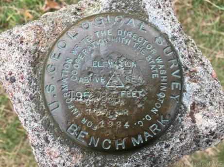 Timms Hill - USGS survey marker