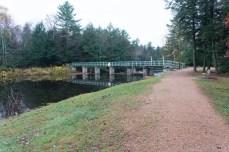Dells of the Eau Claire River - Bridge over dam