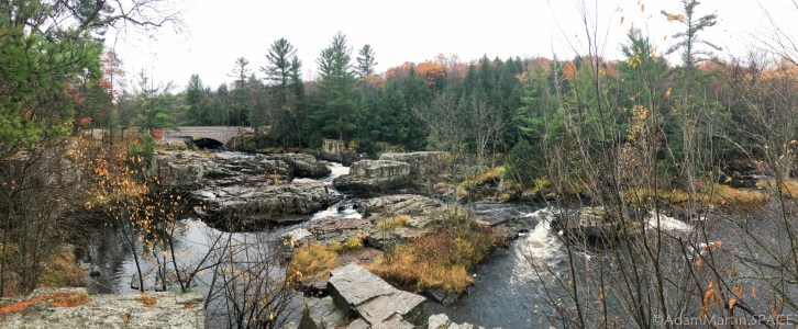 Dells of the Eau Claire River - Panorama of the dells