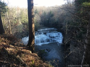 Burgess Falls State Park - View of little falls from the trail
