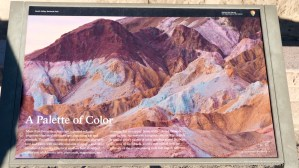 Death Valley - Viewpoint sign at Artists Drive