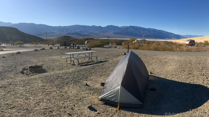 Death Valley National Park - Tent site at Texas Springs campground