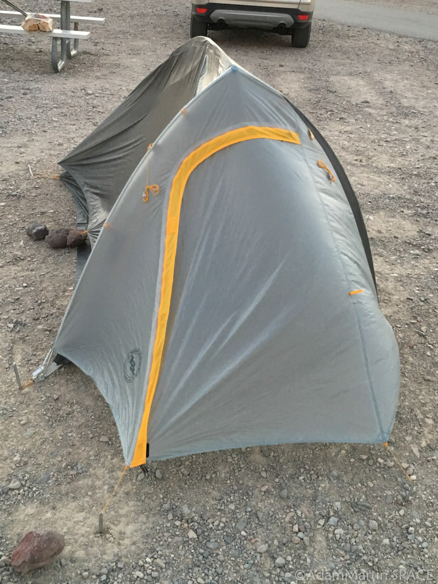 Death Valley - Big Agnes tent didn't do well in the wind