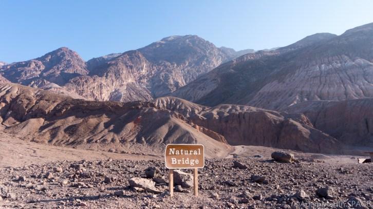 Death Valley - Natural Bridge trail sign