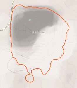 GaiaGPS hiking data @ Death Valley - Ubehebe Crater