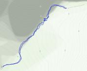 GaiaGPS hiking data @ Death Valley - Natural Bridge