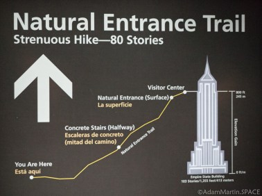 Carlsbad Caverns National Park - Sign on Natural Entrance Trail