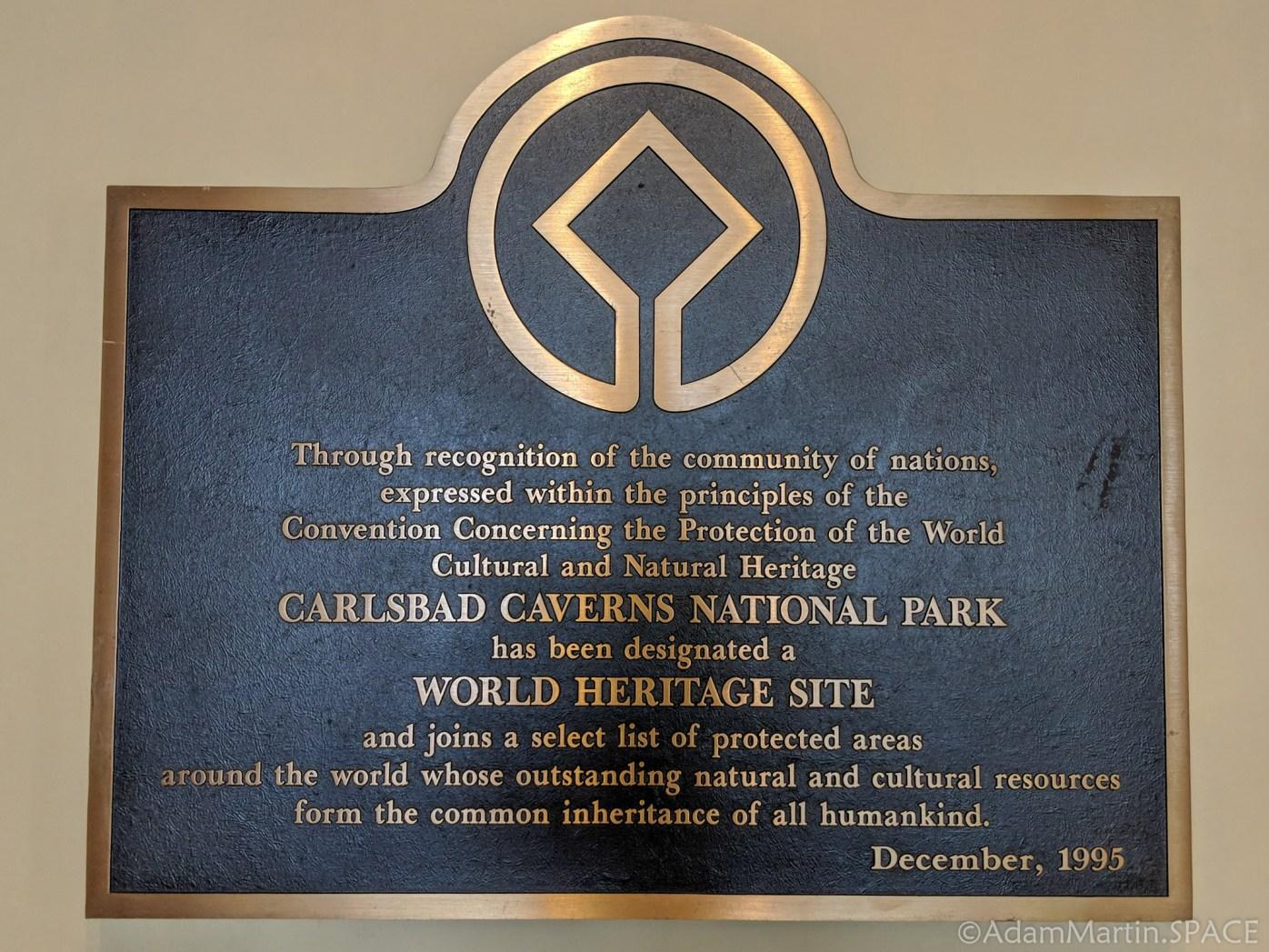 Carlsbad Caverns National Park - World Heritage Site