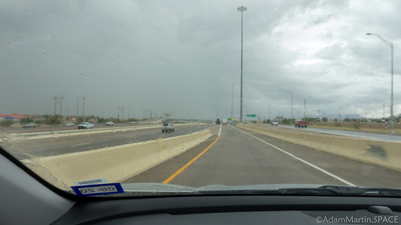 Driving through El Paso during flash floods