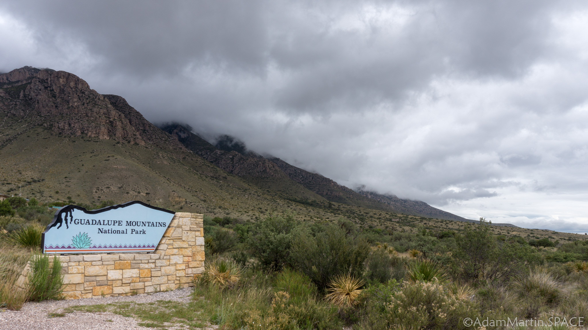 Guadalupe Mountains National Park - Covered in Clouds