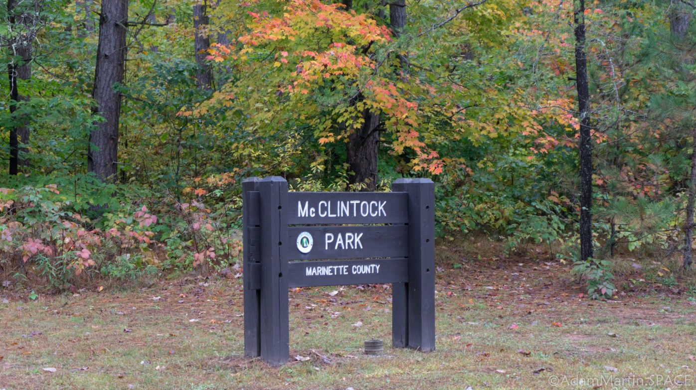 McClintock Falls - Entrance Sign to McClintock Park