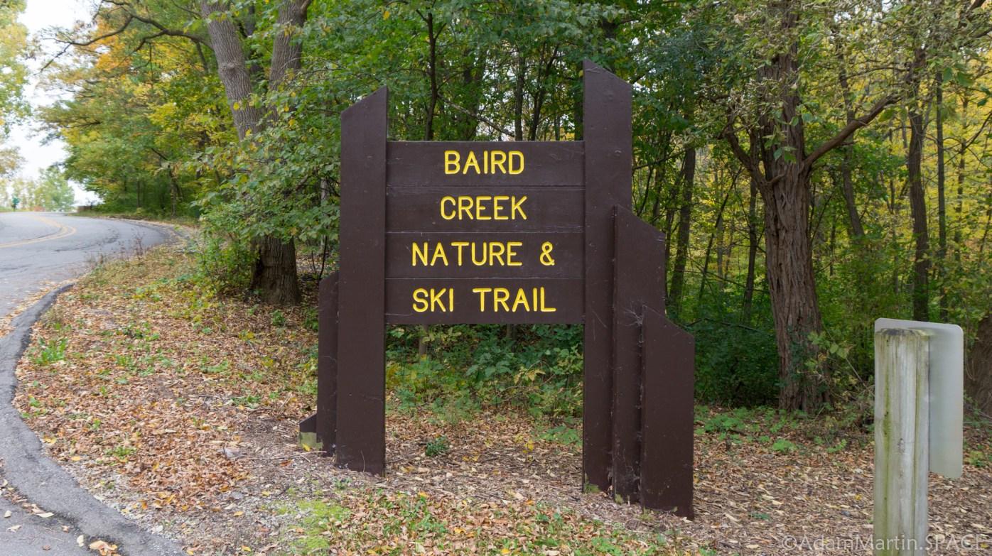 Baird Creek Falls - Entrance Sign