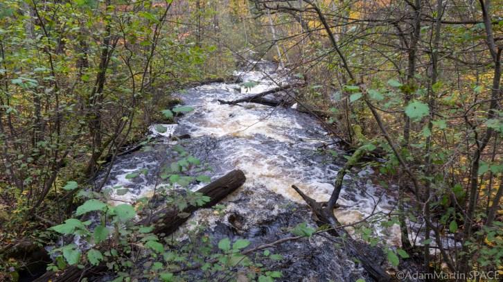 Waupee Creek Rapids - View From the Bridge