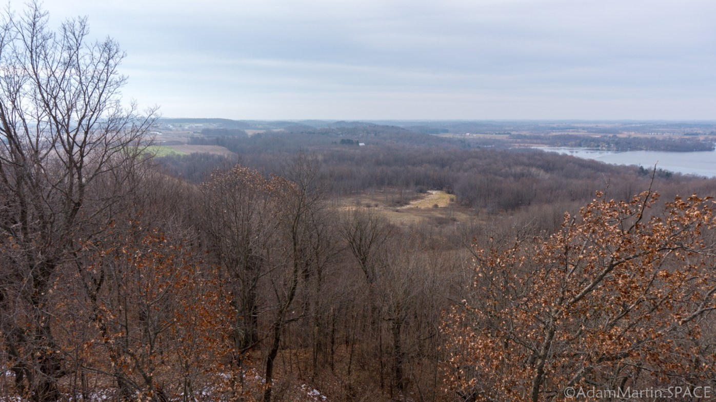 Kettle Moraine Pike Lake Unit - Panorama From Powder Hill Observation Tower