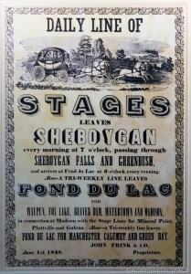 Old Wade House - John Frink & Co. stagecoach flyer from 1848
