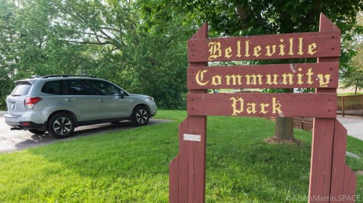 Belleville Spillway - Parking lot glam shot with the Forester