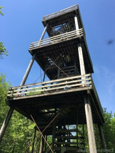 Belmont Mound State Park - Observation tower (closed) from below