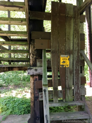 Belmont Mound State Park - Observation tower closed