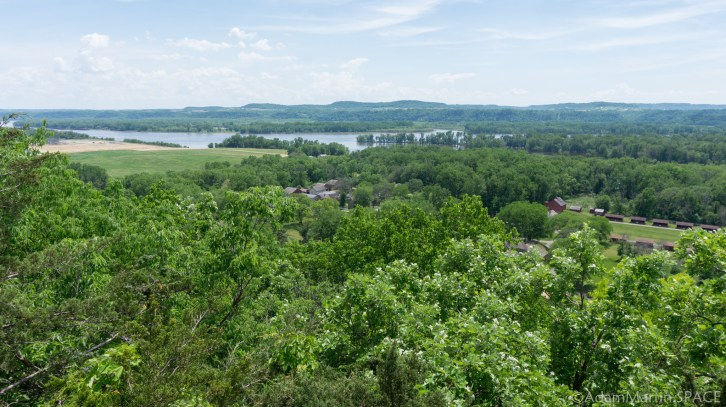 Nelson Dewey State Park - Mississippi River in the distance