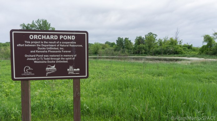 Richard Bong State Recreation Area - Orchard Pond restoration sign
