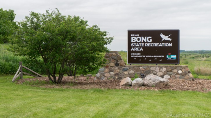 Richard Bong State Recreation Area - Entrance Sign