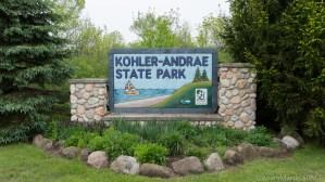 Kohler-Andrae State Park - Entrance Sign