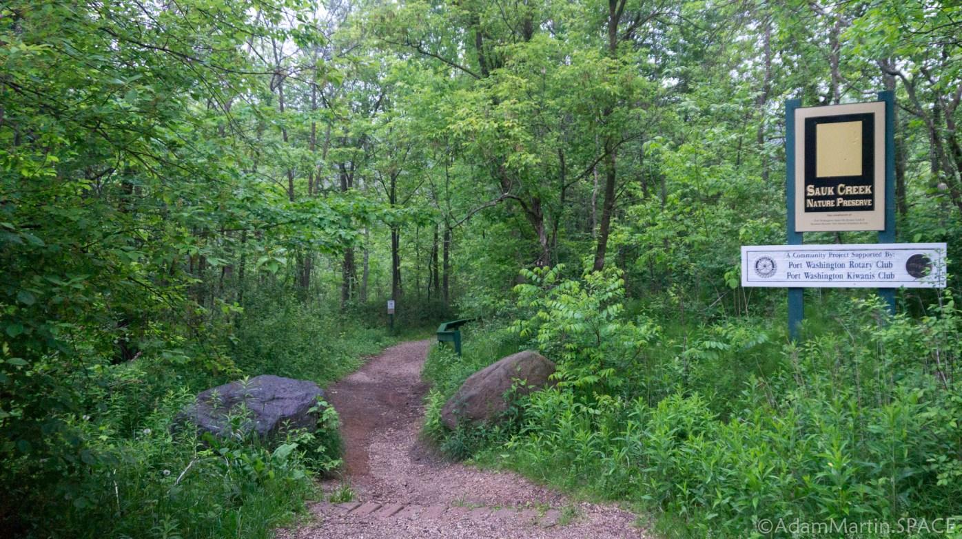 Sauk Creek Falls - Nature Preserve trailhead