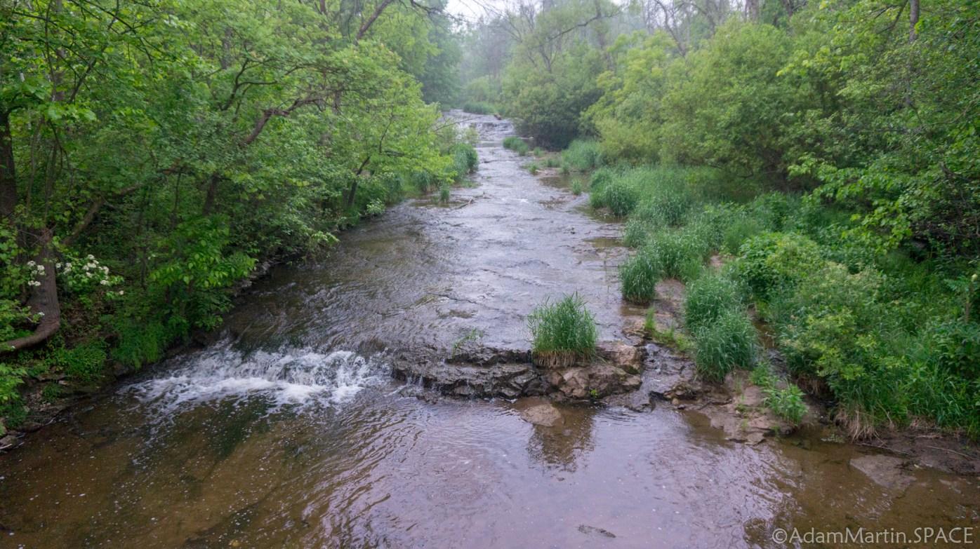 Sauk Creek Falls - Creek view from bridge crossing
