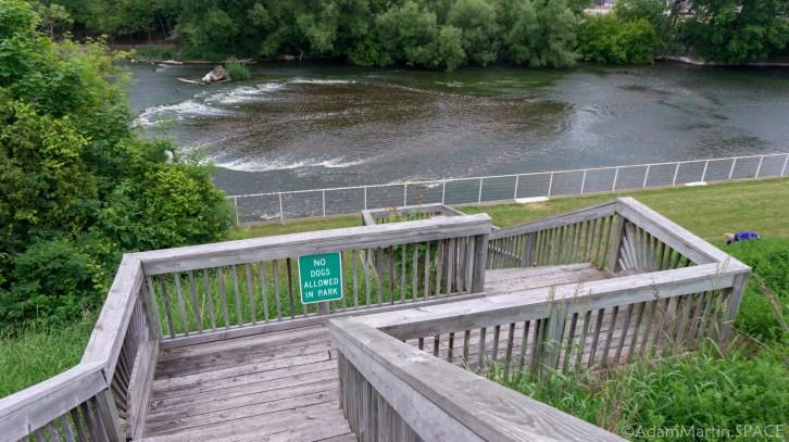 Sheboygan Falls - Stairs down to Falls View Park