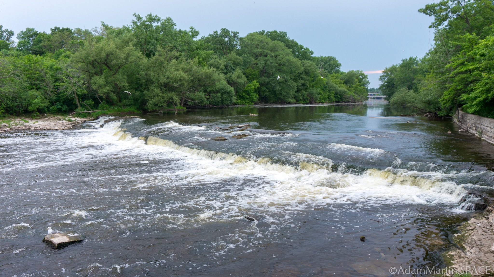 Estabrook Falls on the Milwaukee River