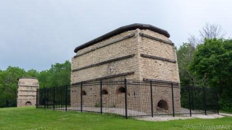 Lime kilns near Menomonee Falls in Lime Kiln Park