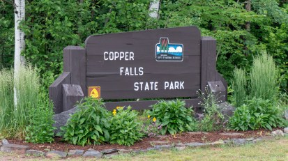 Copper Falls State Park - Entrance sign