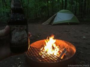 Copper Falls State Park - Campsite #50 fire & brewski