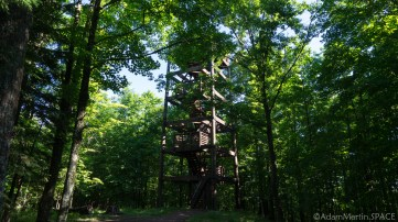 Copper Falls State Park - Observation tower on CCC trail