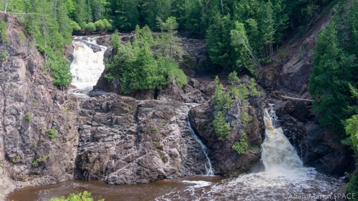 Saxon Falls - View from trail endpoint