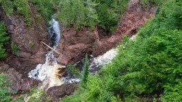 Copper Falls State Park - Brownstone Falls view from side/above