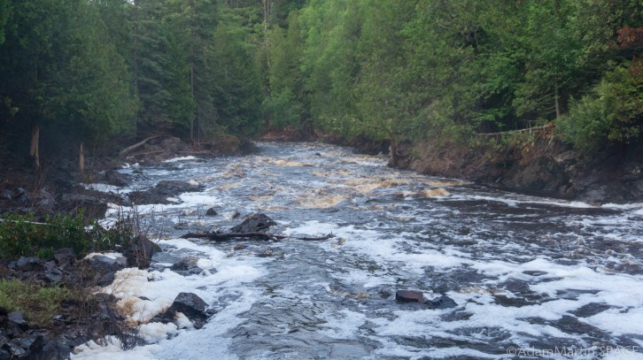 Pattison State Park - Black River rapids downstream from Little Manitou Falls