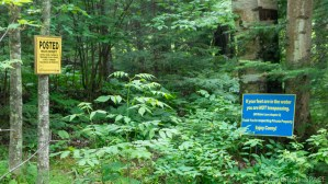 Siskiwit Falls - Friendly warning signs on private property