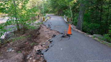 Amnicon Falls State Park - Roads destroyed from recent strong storms