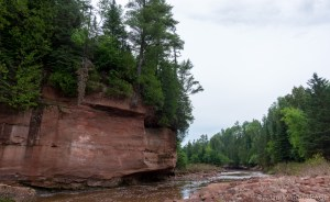 Orienta Falls - Orienta Flowage downstream of falls